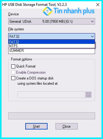 Format usb bằng phần mềm HP USB Disk Storage Format Tool