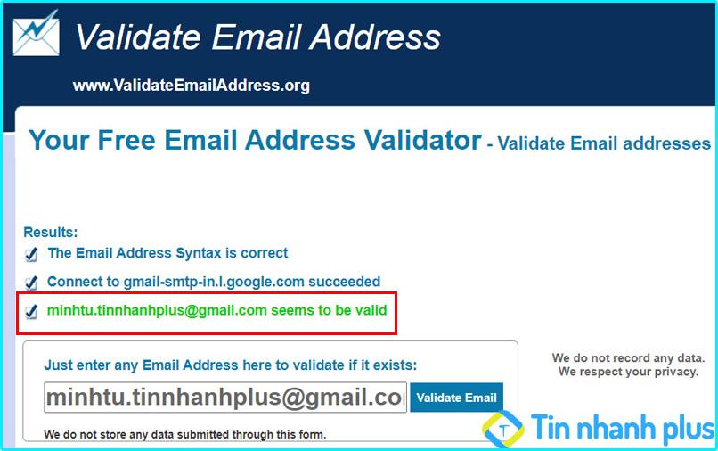 kiểm tra email có tồn tại hay không bằng Validateemailaddress