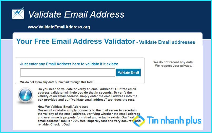 kiểm tra email Validateemailaddress