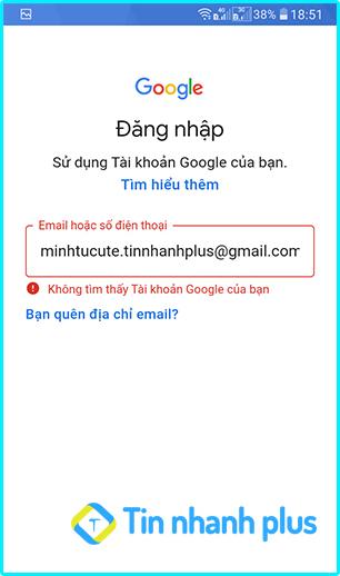kiểm tra email có tồn tại hay không bằng smart phone android