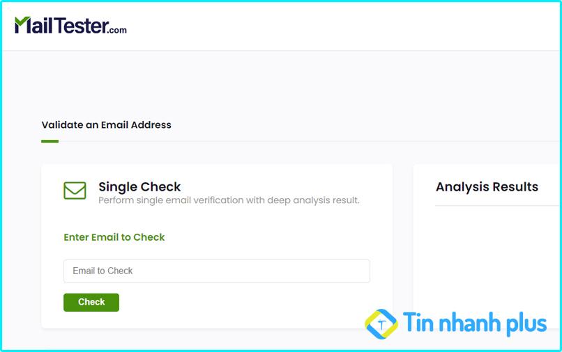 kiểm tra email có tồn tại không bằng Mailtester