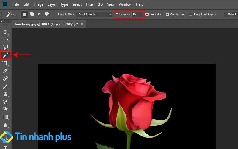 công cụ tách nền đen trong photoshop
