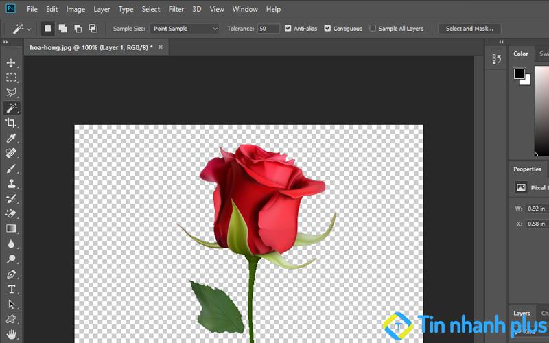 hướng dẫn tách nền đen trong photoshop