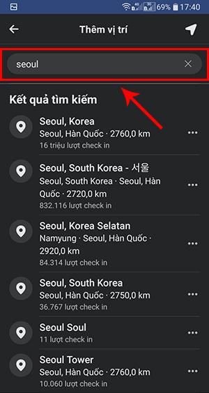 cách tạo địa điểm check in trên android