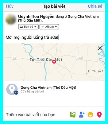 hướng dẫn tạo địa điểm check in trên iphone