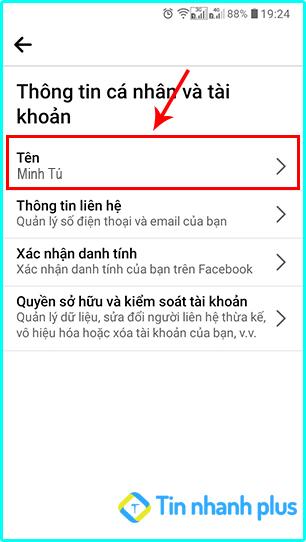 cách đổi tên trên facebook không phải là tên thật trên android