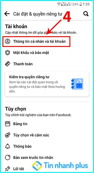 khóa tài khoản facebook trên điện thoại android