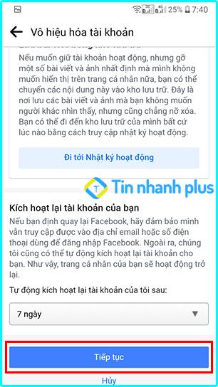hướng dẫn khóa tài khoản facebook bằng điện thoại android