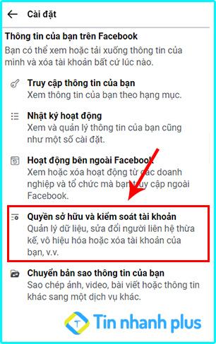 cách khóa tài khoản facebook trên điện thoại iphone