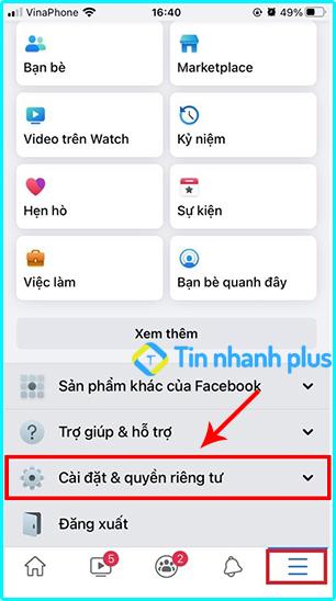 hướng dẫn khóa tài khoản facebook trên iphone