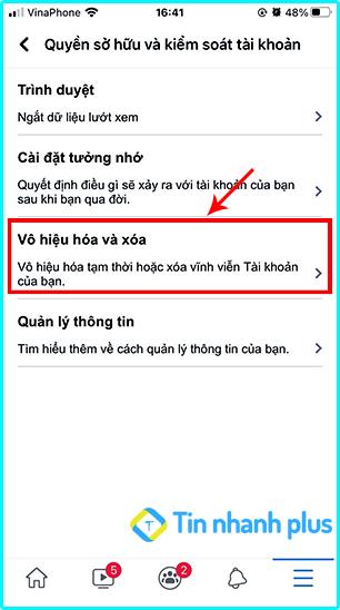 khóa tài khoản iphone trên ios