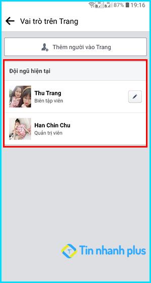 cách xem thông tin admin fanpage facebook trên điện thoại