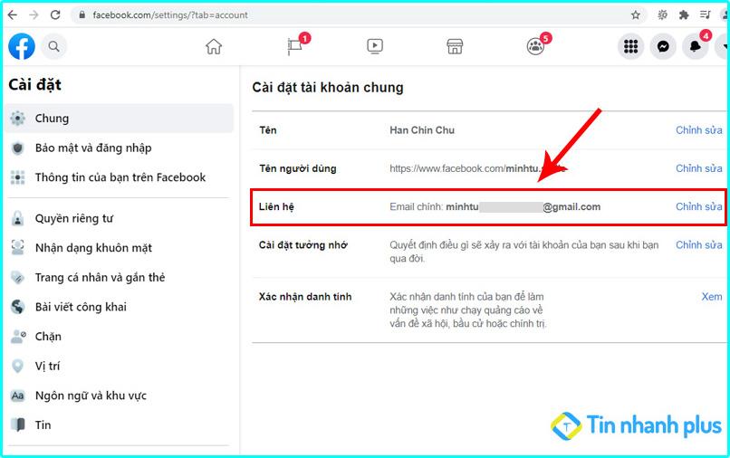 cách xem email facebook bằng pc