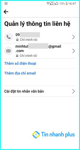 hướng dẫn cách xem địa chỉ email của mình trên điện thoại