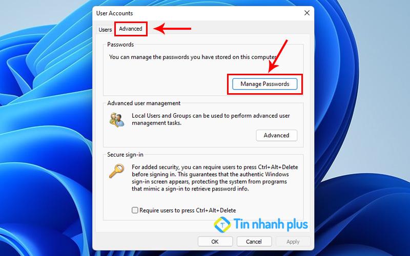 xem username và pass trên máy tính windows bằng Netplwiz