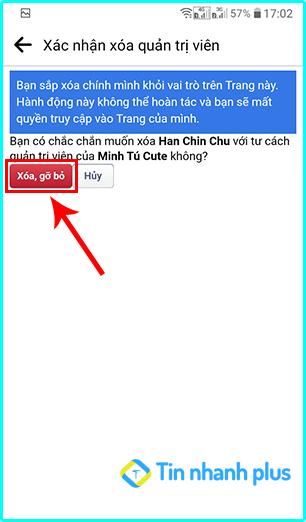 cách tự xóa quyền quản trị viên trang fanpage