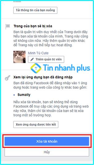 xóa facebook vĩnh viễn trên iphone