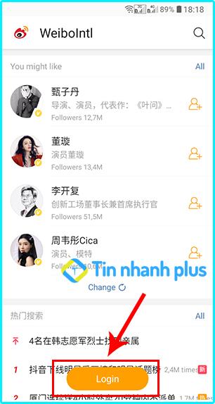 đăng ký tài khoản weibo bằng điện thoại