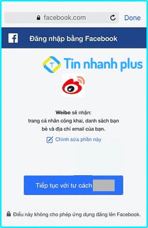 tạo tài khoản weibo bằng facebook