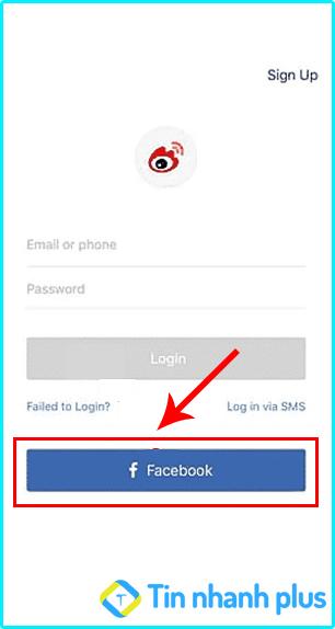 đăng ký tài khoản weibo bằng facebook