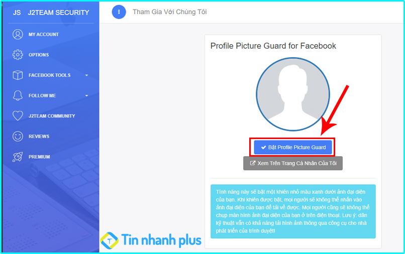 tiện ích khóa avatar facebook