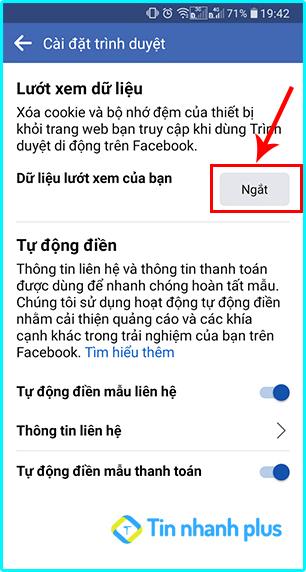 cách xóa cache trên facebook